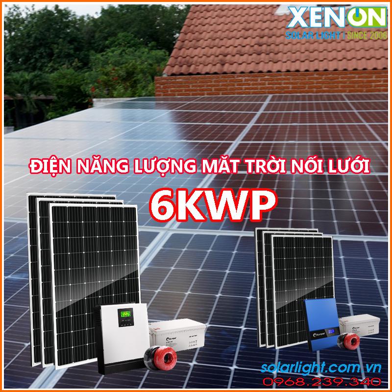 Báo giá lắp đặt điện năng lượng mặt trời 6KW giá rẻ