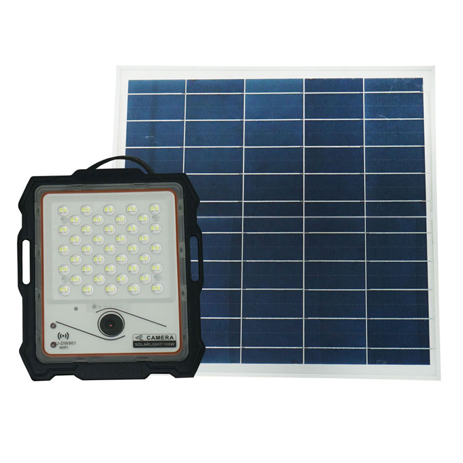 Đèn pha năng lượng mặt trời 100W kết hợp Camera cao cấp - CMR100W