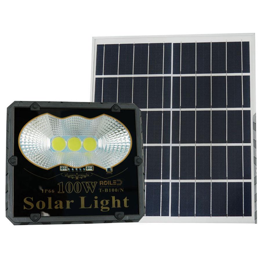 Đèn pha năng lượng mặt trời giá rẻ 100W Roiled - PC100W