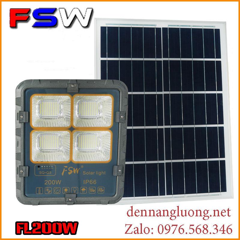 Đèn Solar Light FL200W| năng lượng mặt trời siêu sáng | FSW 2021