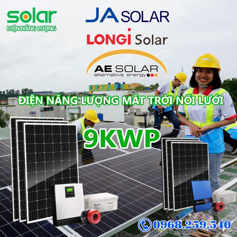 Hệ thống điện năng lượng mặt trời 9Kw hòa mạng