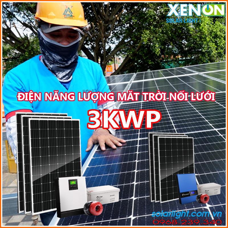 Lắp đặt hệ thống pin năng lượng mặt trời 3kw