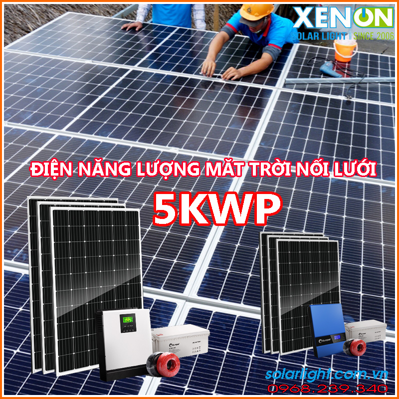 Lắp đặt hệ thống pin năng lượng mặt trời 5kw