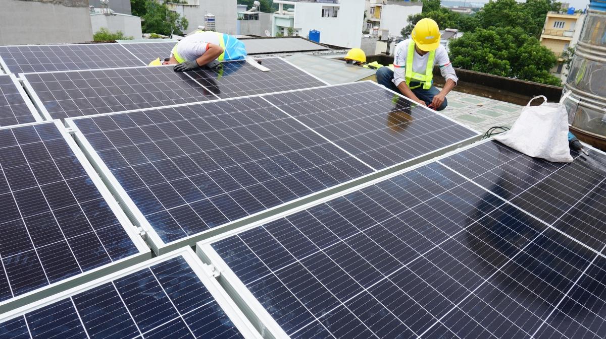 Hệ thống điện năng lượng mặt trời 7KW hệ nối lưới