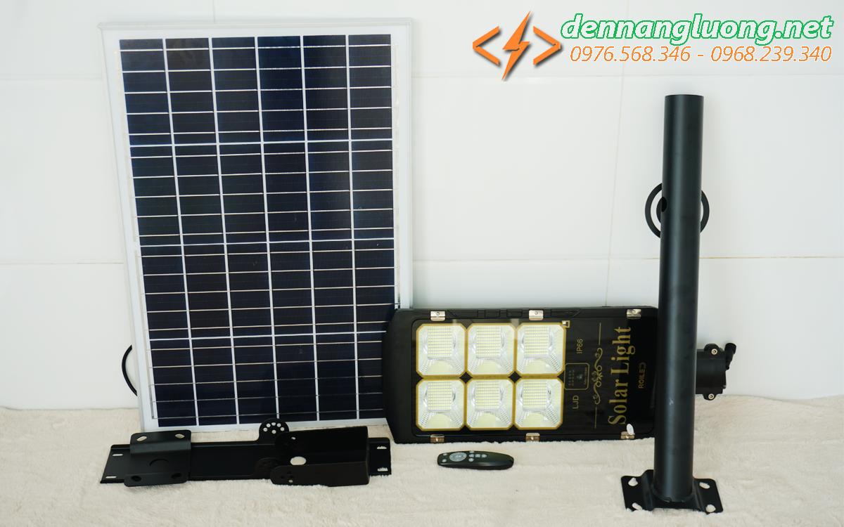 Đèn đường năng lượng mặt trời pin liền thể 160w có điều khiển