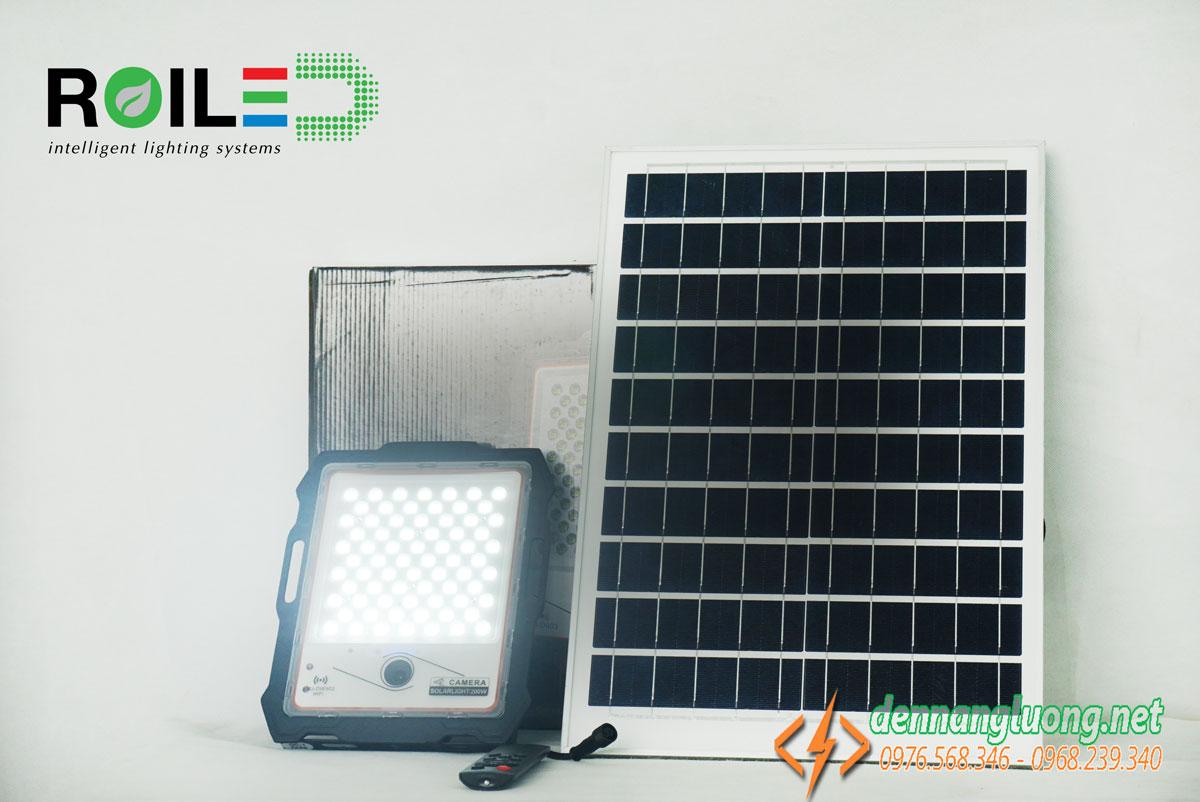 Đèn pha năng lượng mặt trời 200W kết hợp Camera cao cấp - CMR200W