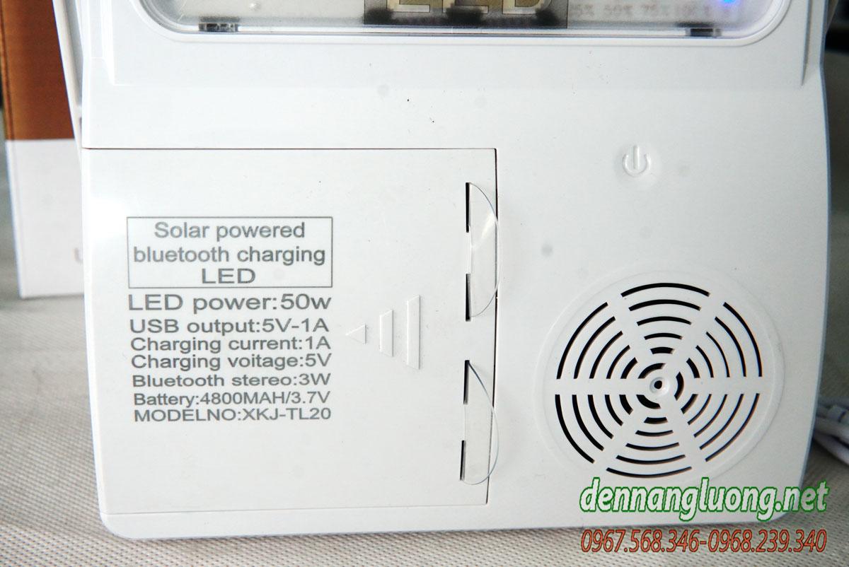 Pin sạc dự phòng năng lượng mặt trời kết hợp loa bluetooth với đèn pha siêu sáng PL15.1