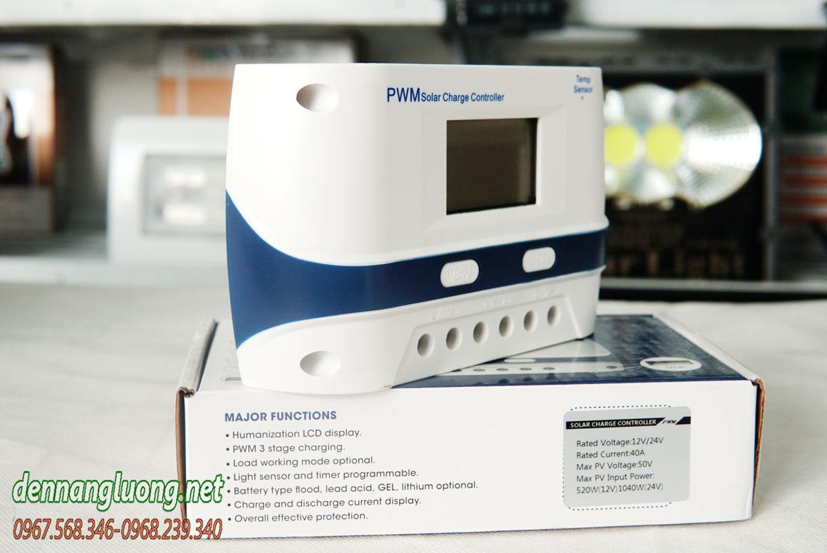 Bộ điều khiển sạc năng lượng mặt trời 40A PWM chính hãng - PWM40A
