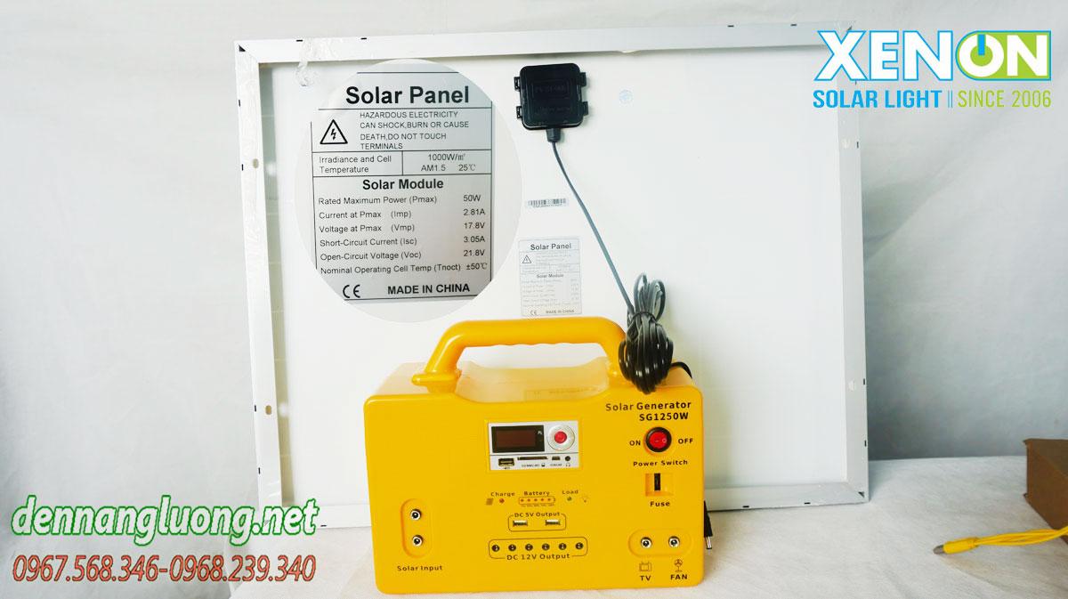 Máy phát điện năng lượng mặt trời Xenon X1250
