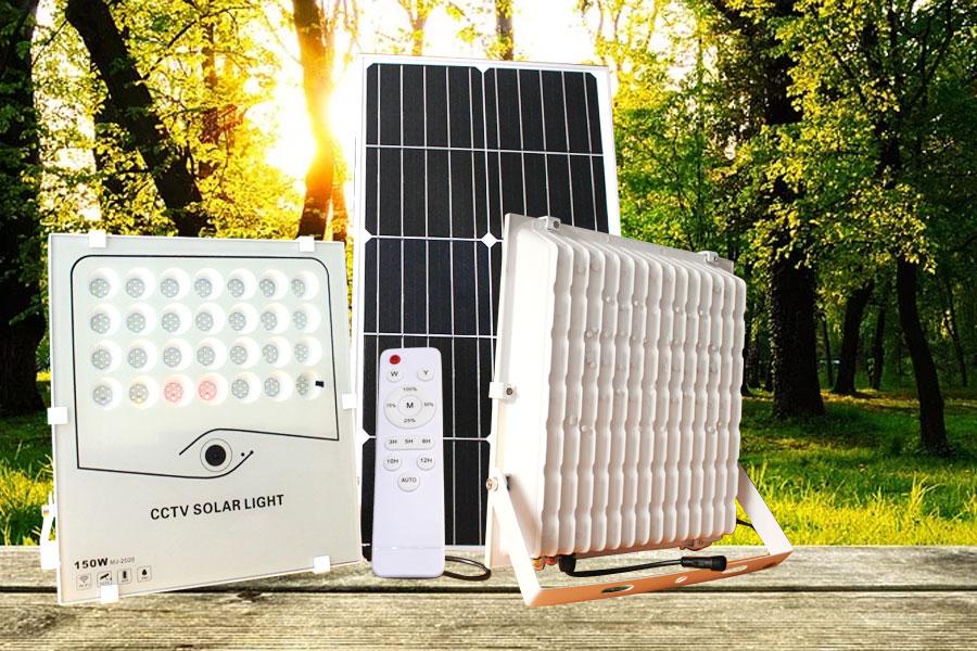 Đèn pha hiện đại kết hợp Camera thông minh – năng lượng mặt trời 150w:
