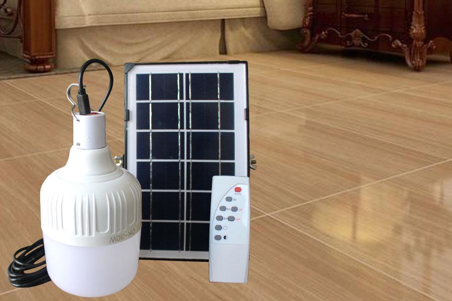 Bộ bóng bulb trắng năng lượng mặt trời 100w sử dụng trong nhà