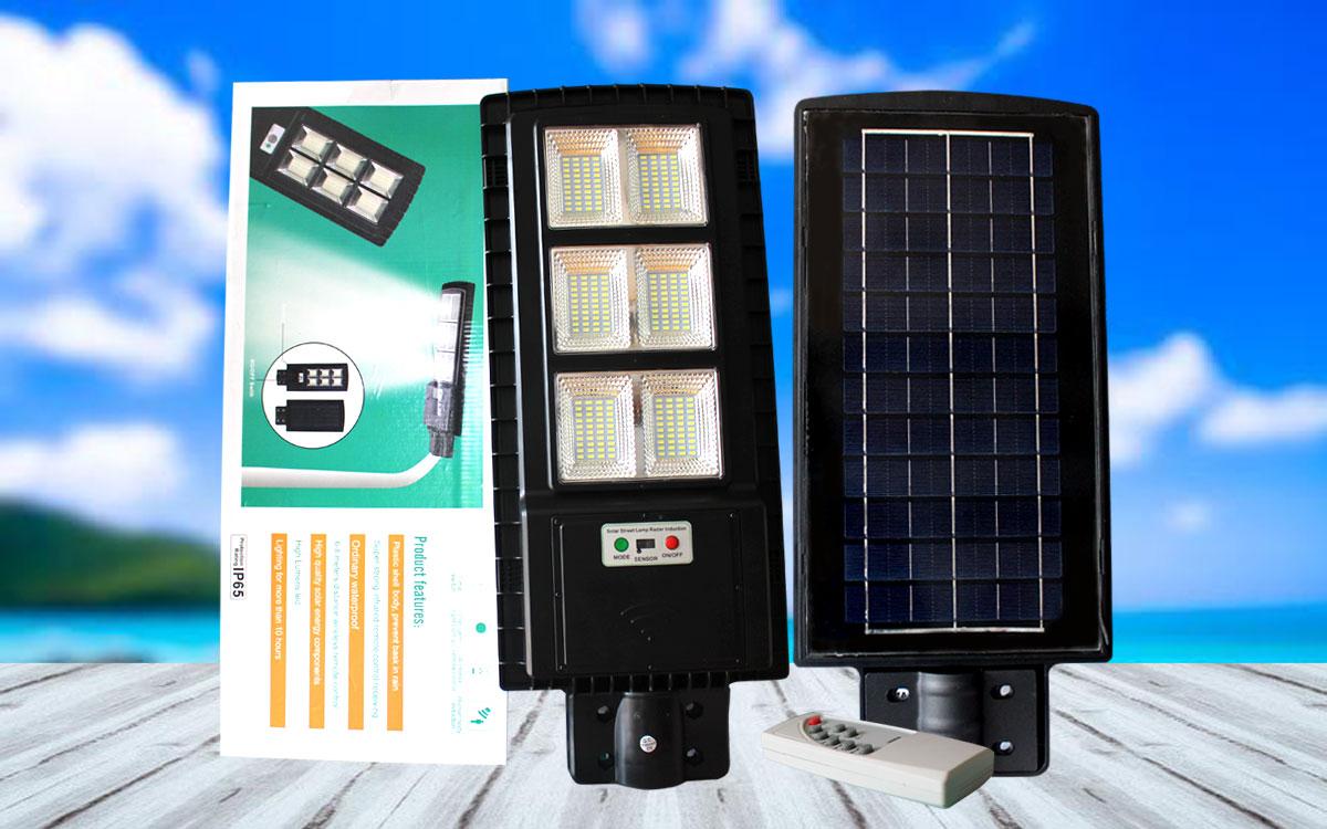 Đèn đường pin liền thể thế hệ mới LT 90w