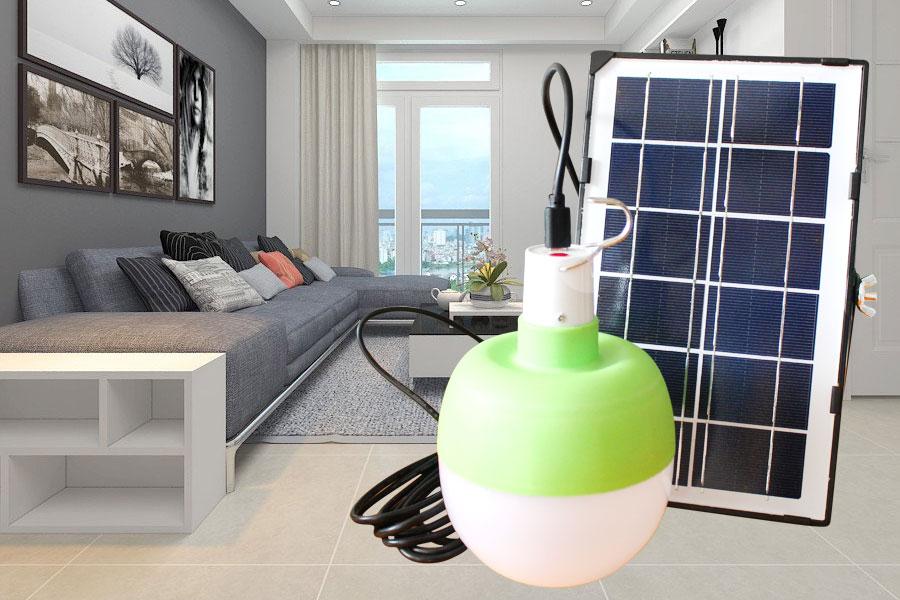 Búp xanh năng lượng mặt trời sử dụng trong nhà 120w