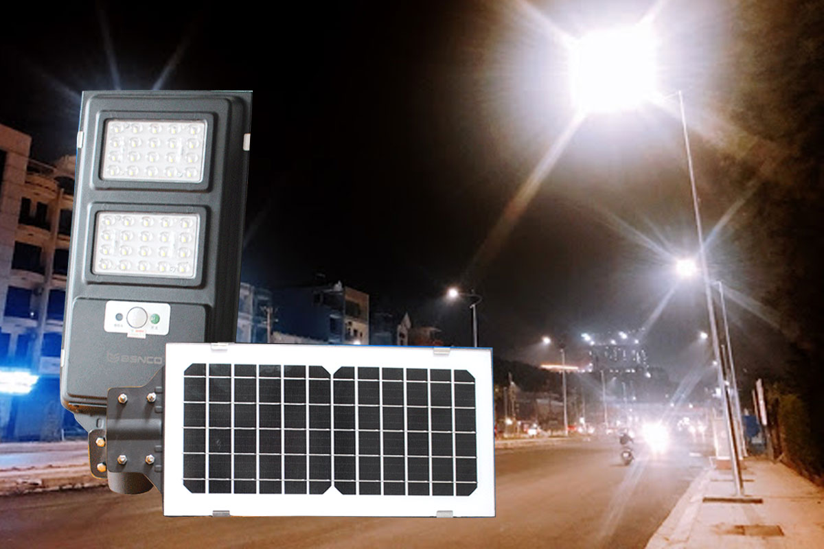 Đèn đường pin liền thể năng lượng mặt trời 40w