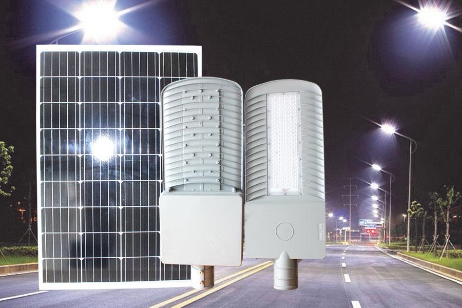 Đèn đường công trình cao cấp năng lượng mặt trời 100w