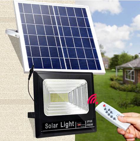 Đèn pha năng lượng mặt trời 200W cao cấp