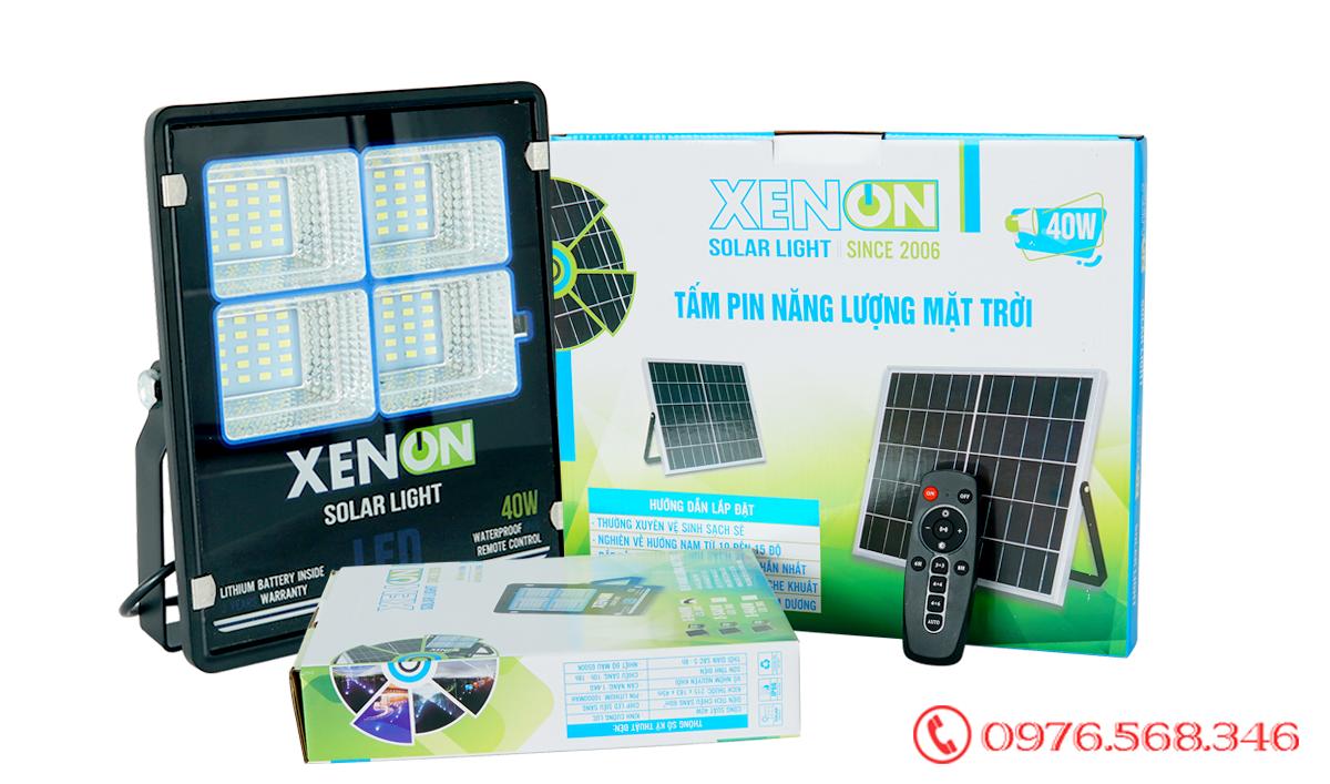 Đèn pha Xenon X40W cao cấp năng lượng mặt trời