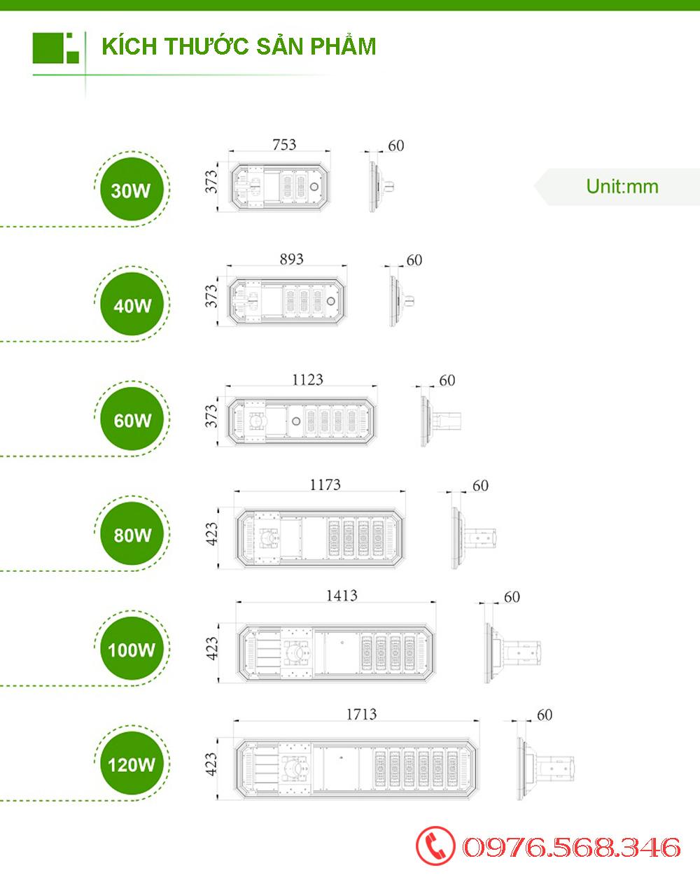đèn đường liền thể Xenon XD60W