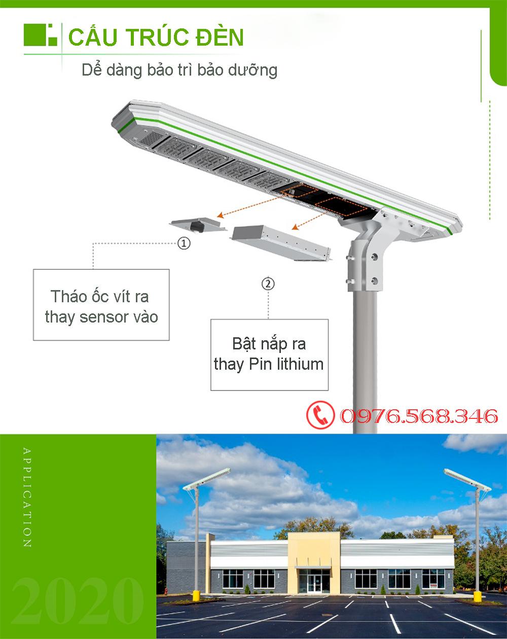 đèn năng lượng liền thể XD60W 2021