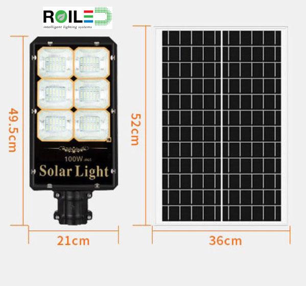 Đèn đường năng lượng mặt trời Roiled 100W RL 0011