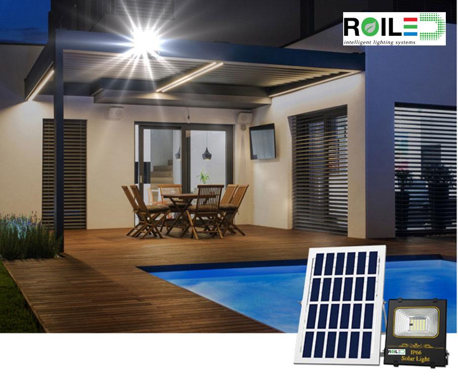 Đèn pha năng lượng mặt trời Roiled RL 0015 100W