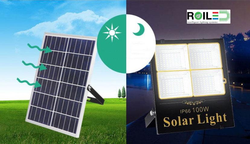 Đèn pha năng lượng mặt trời Roiled RL 0003 100W