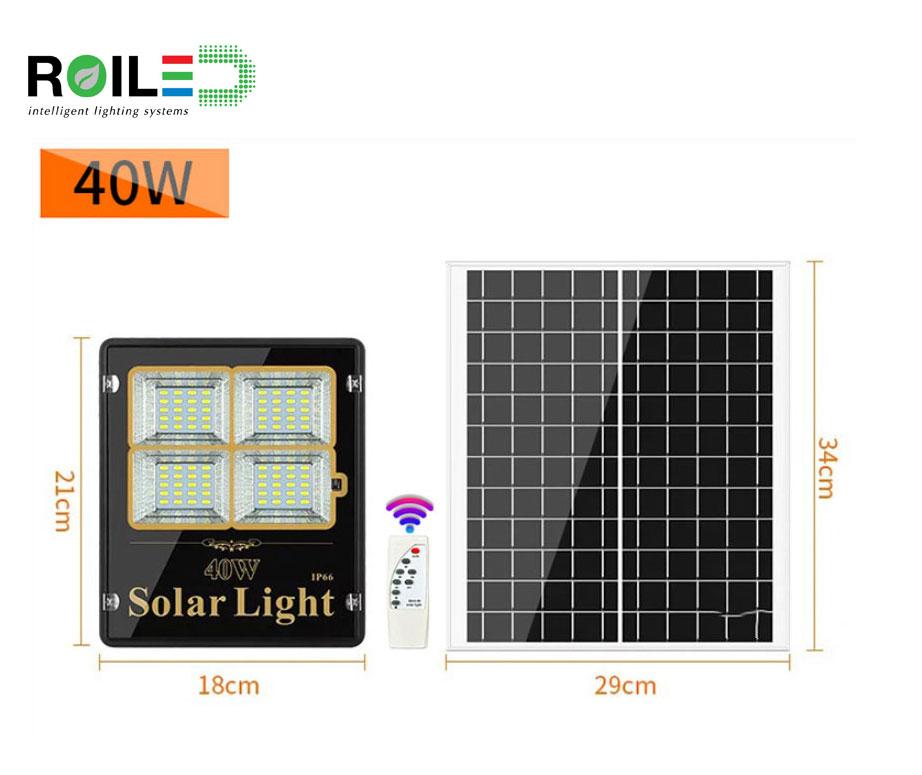 Đèn pha năng lượng mặt trời Roiled RL 0001 40W