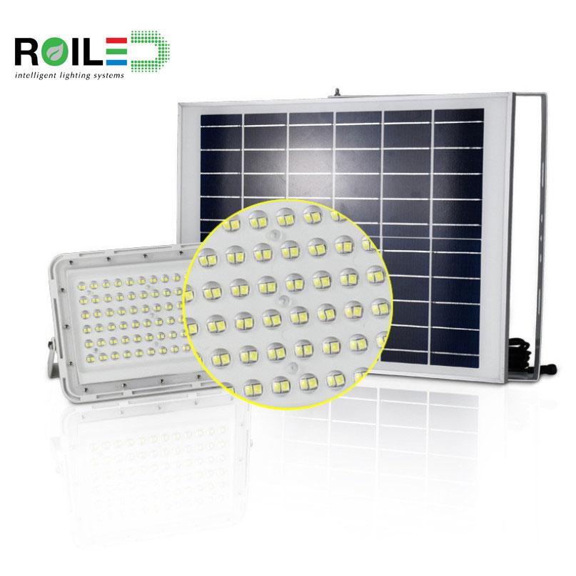 Đèn pha năng lượng mặt trời cao cấp Roiled RL0006 100W