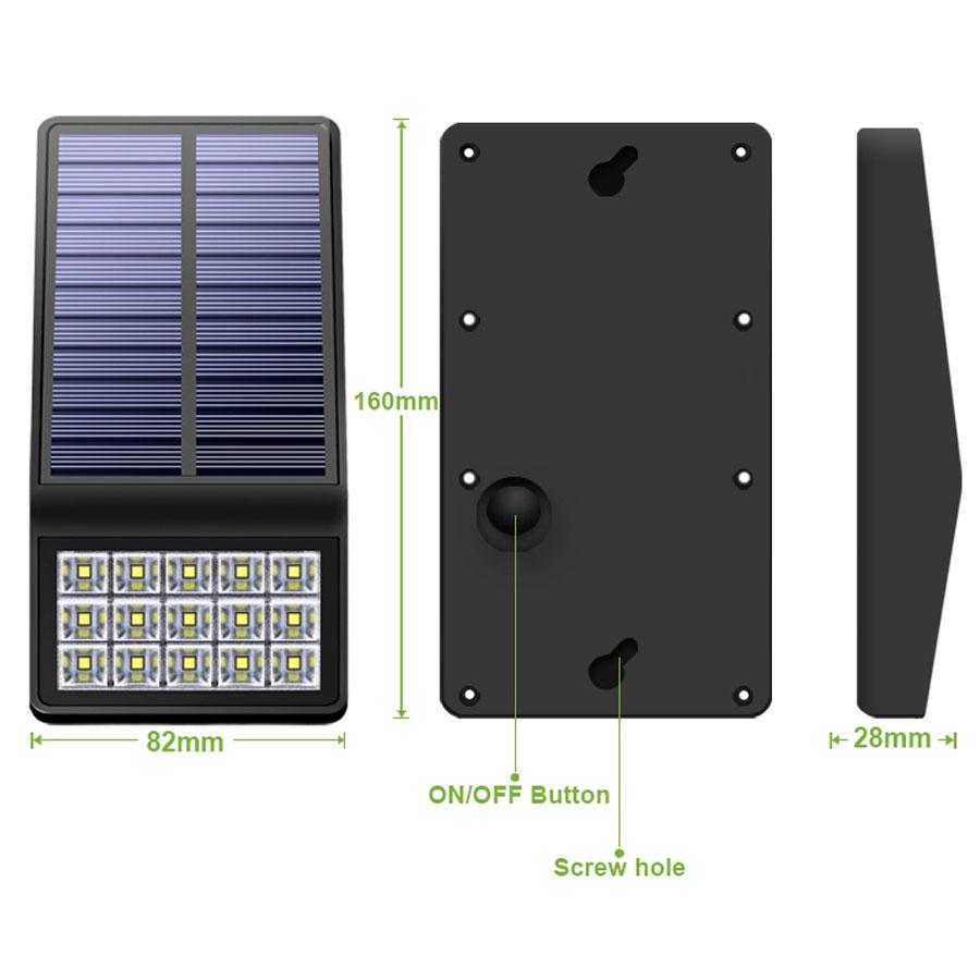 Đèn pha năng lượng gắn vách VK-860A 4W