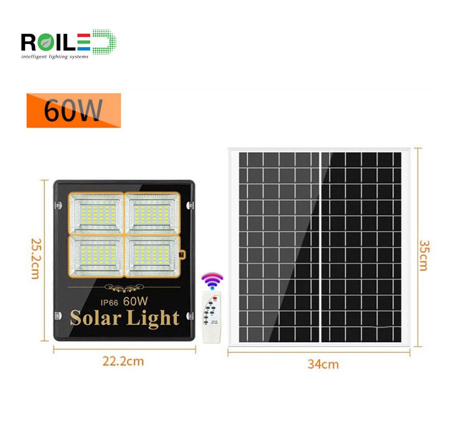 Đèn pha năng lượng mặt trời Roiled RL 0002 60W